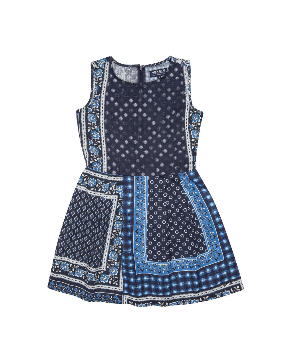 G'S Patchwork Dress, PATCHWORK INDIG, hi-res
