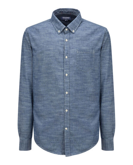 Button Down Shirt, CHAMBRAY, hi-res