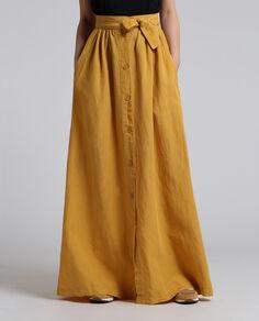 W'S Cotton Linen Long Skirt