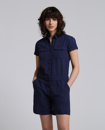W'S Cotton Linen Jumpsuit