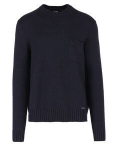 Air Wool Crew Neck, DARK NAVY, hi-res