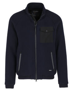 Wool Pile Bomber, MELTON BLUE, hi-res