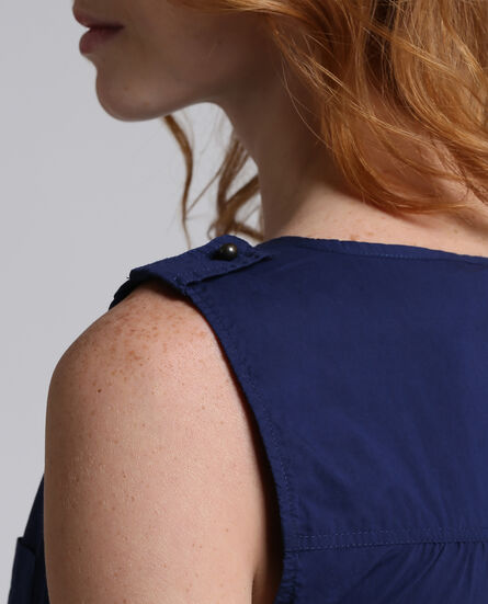 W'S Popeline Pocket Dress