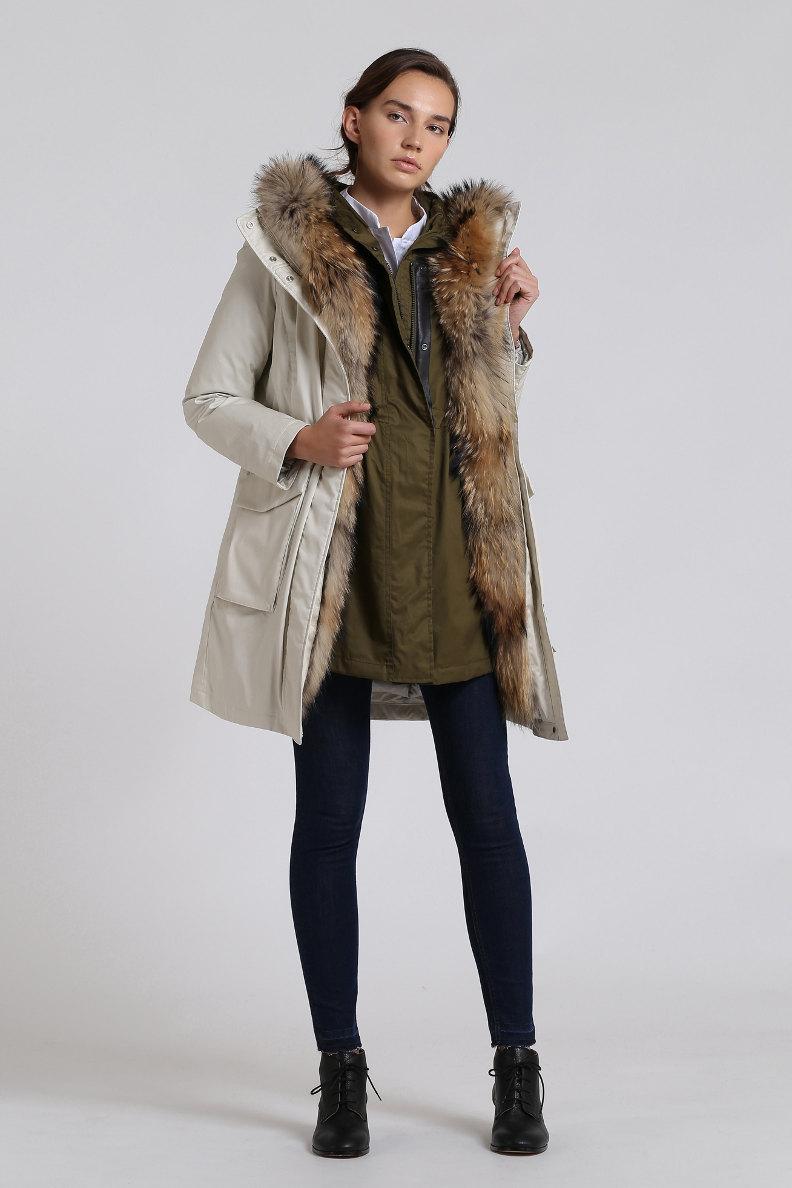 Winterjacke im woolrich style