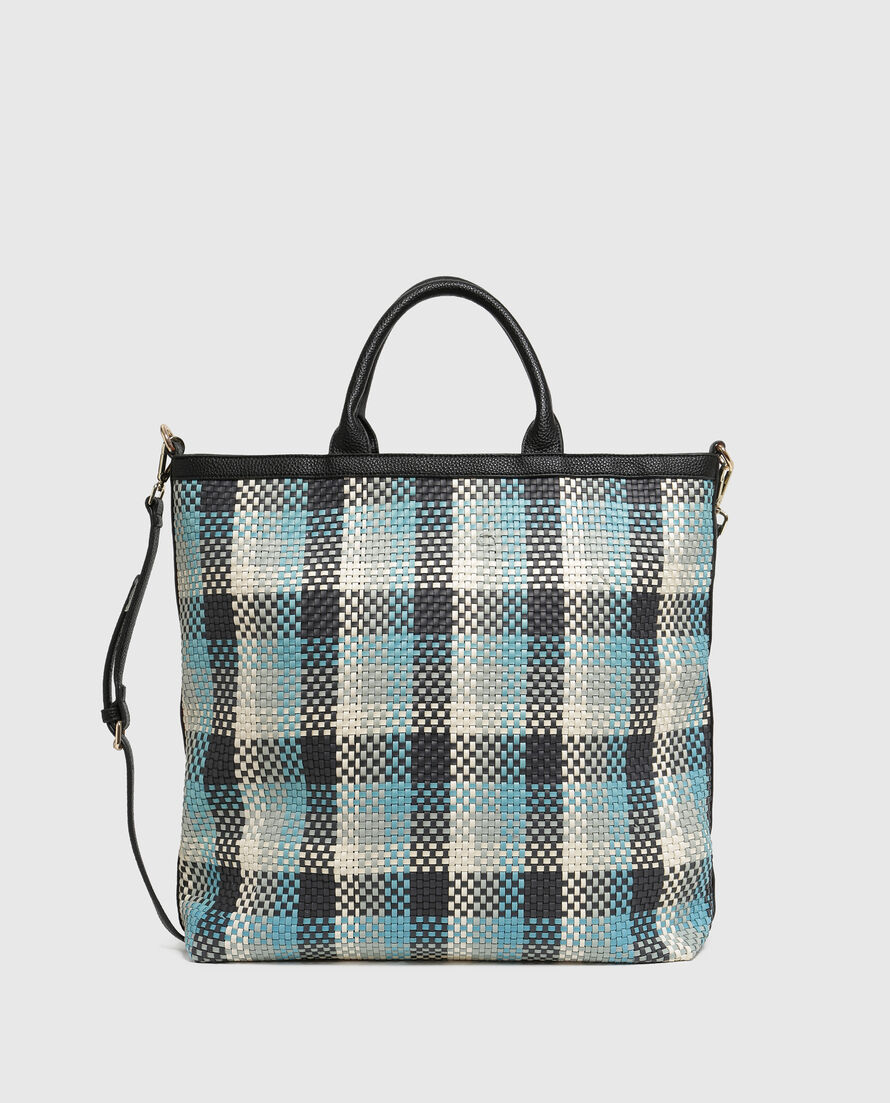 W'S Check Tote Bag