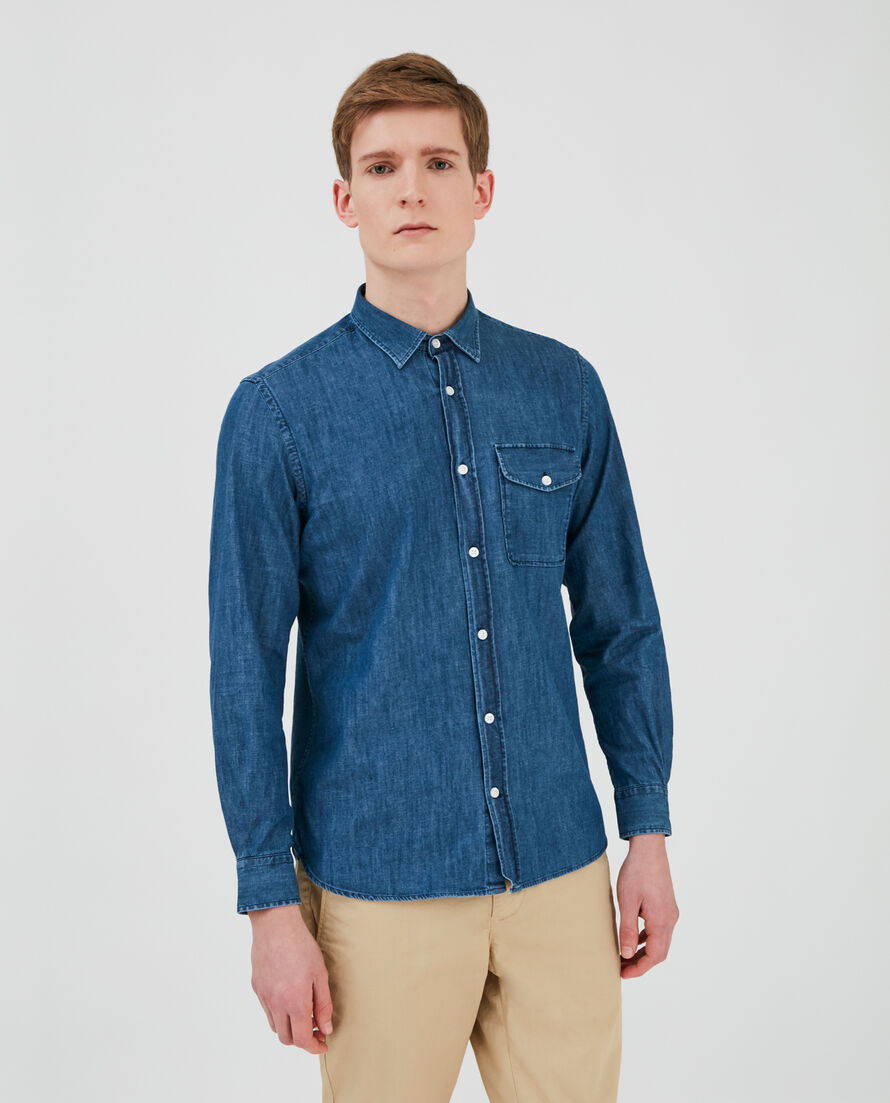 Slim Straight Denim Shirt