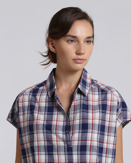 W'S Check Blouse