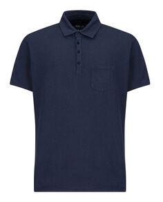Cotton Linen Polo, MOOD INDIGO, hi-res