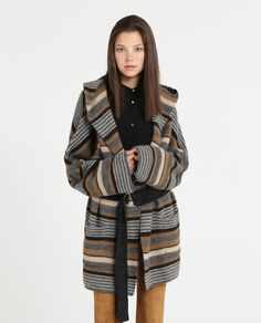 W'S Striped Coat