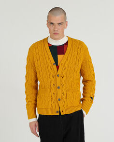 Fisherman Knit Cardi Sweater