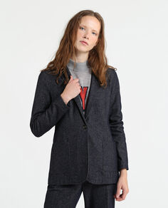W'S Wool Denim Blazer