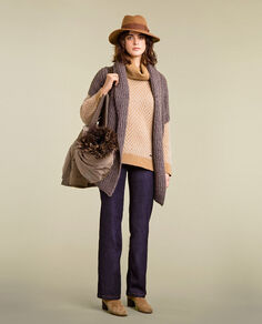 Wool Alpaca Cardigan Look