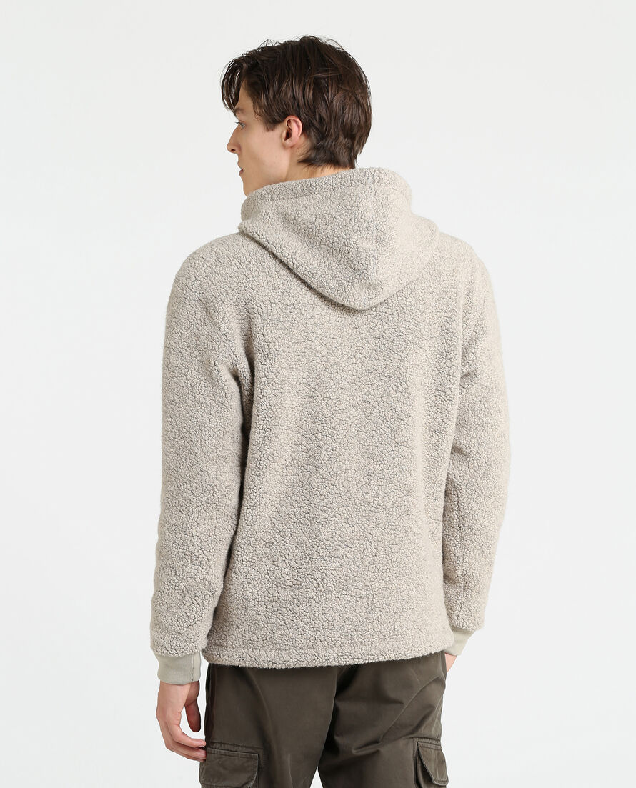 Shearling Fleece Hoodie