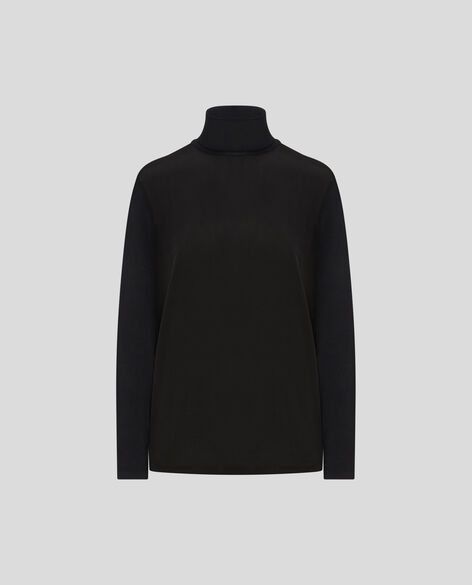 W'S Silk Jersey Turtle Neck