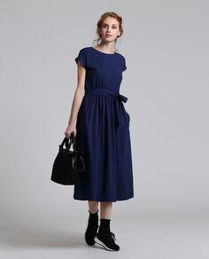 W'S Popeline Belted Dress
