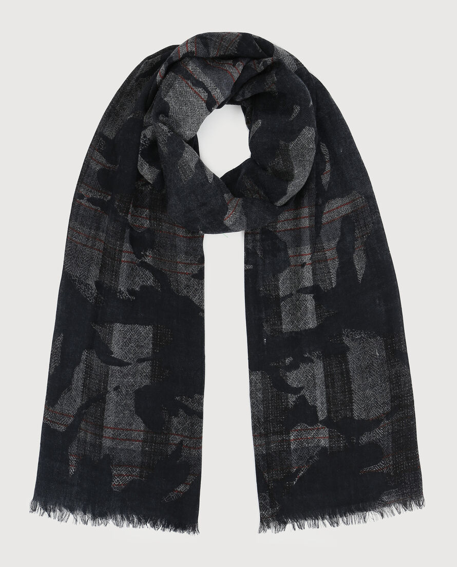 Camou Check Scarf