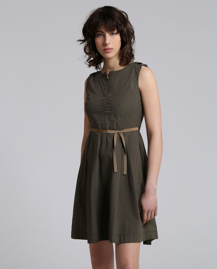 W'S Popeline Pocket Dress