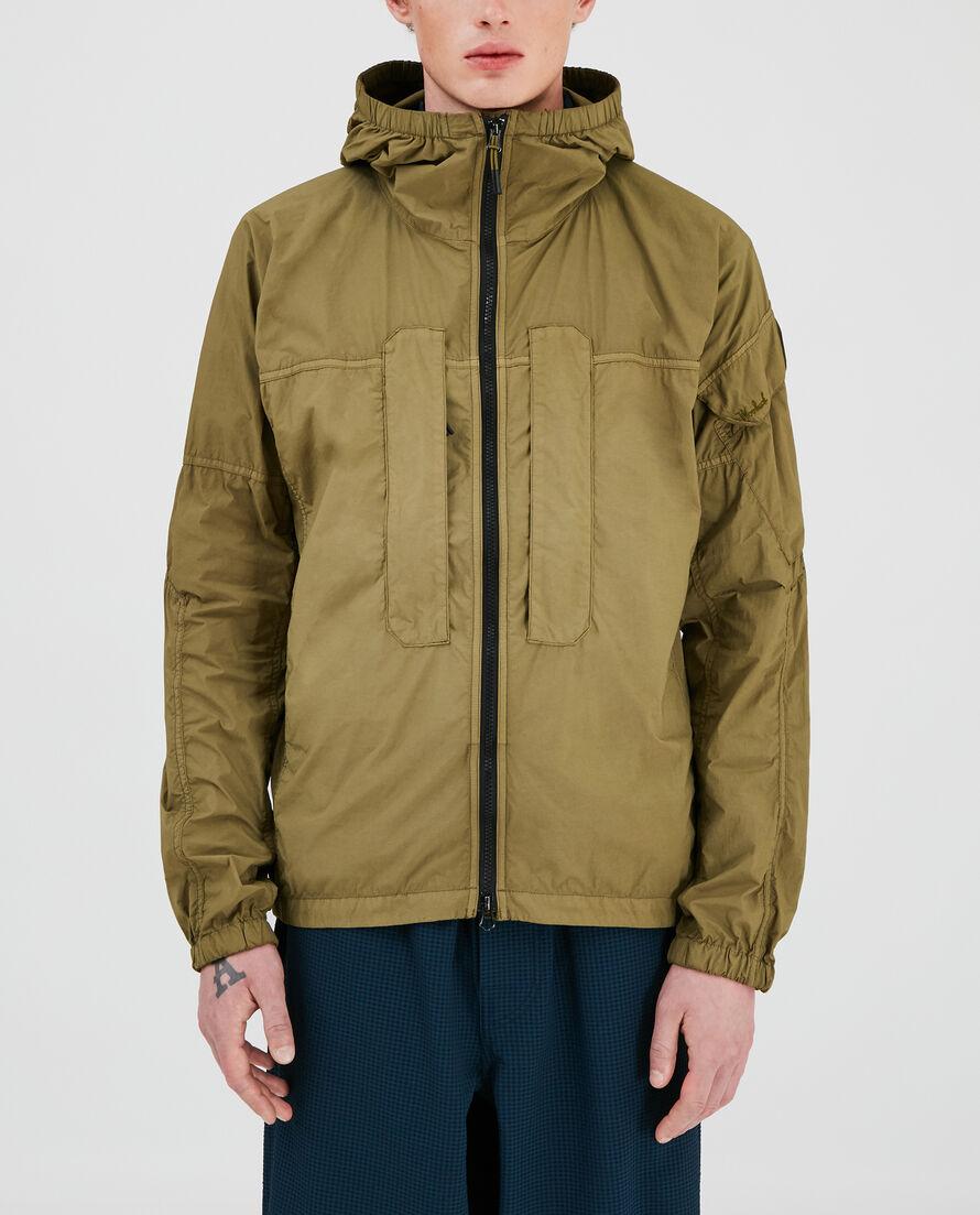 Over Dyed Nylon Utility Jacket