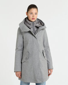 W'S Wool Long Military Parka