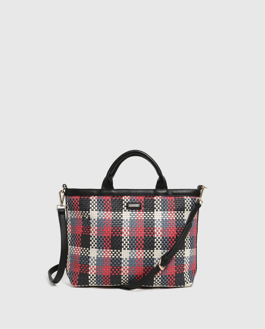 W'S Check Small Bag