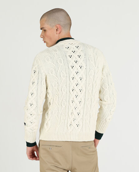 Fisherman Knit Cardi Sweater