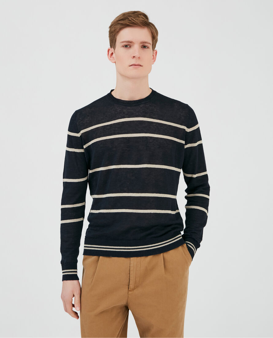 Stripe Crew Neck