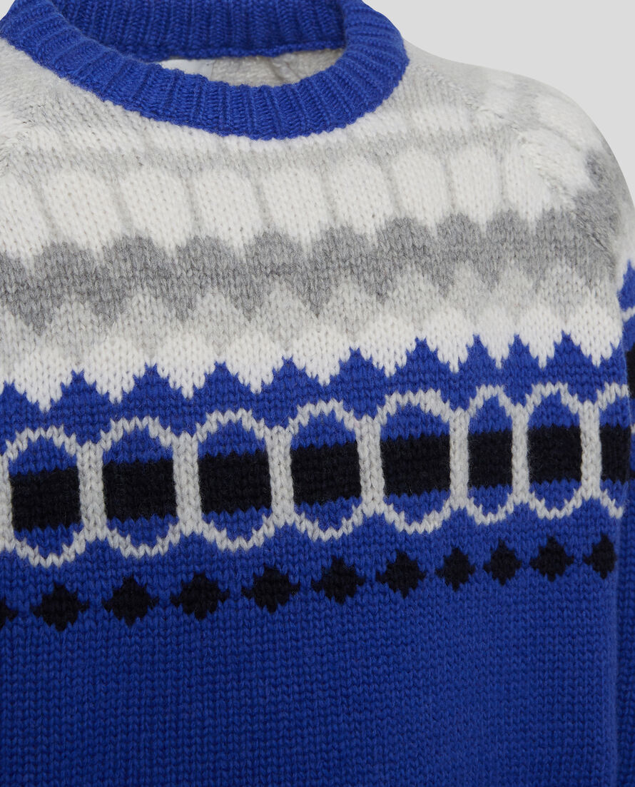 B'S Fairisle Crew Neck