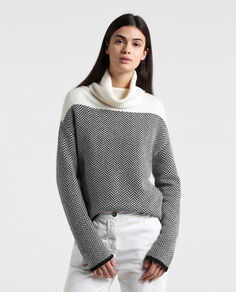 W'S Patchwork Turtle Neck