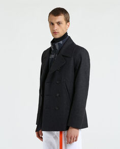 Light Melton Peacoat