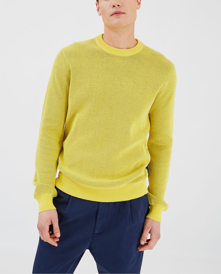 Texture Cotton Crew Neck
