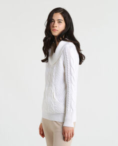 W'S Merinos Cable Turtle Neck