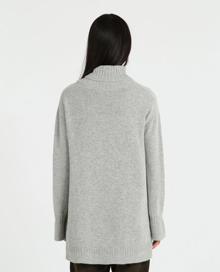 W'S Rib Sweater Turtle Neck