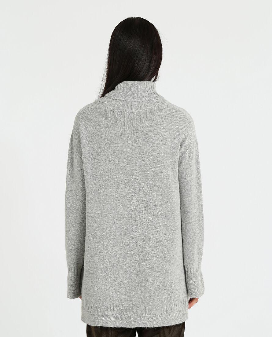 W'S Rib Sweater Turtle Neck