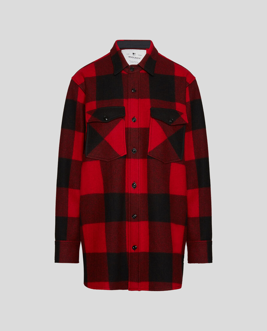 W'S Check Over Shirt