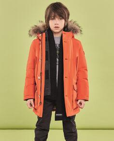 Boy's Orange Parka Look