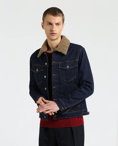 Denim Shearling Jkt