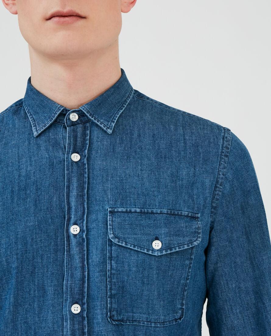 Slim Straight Denim Shirt