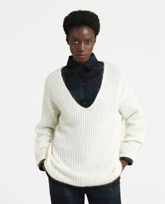 W'S V-Neck Cozy Sweater