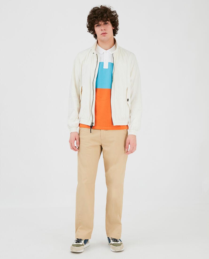 Color Block Stripe Polo
