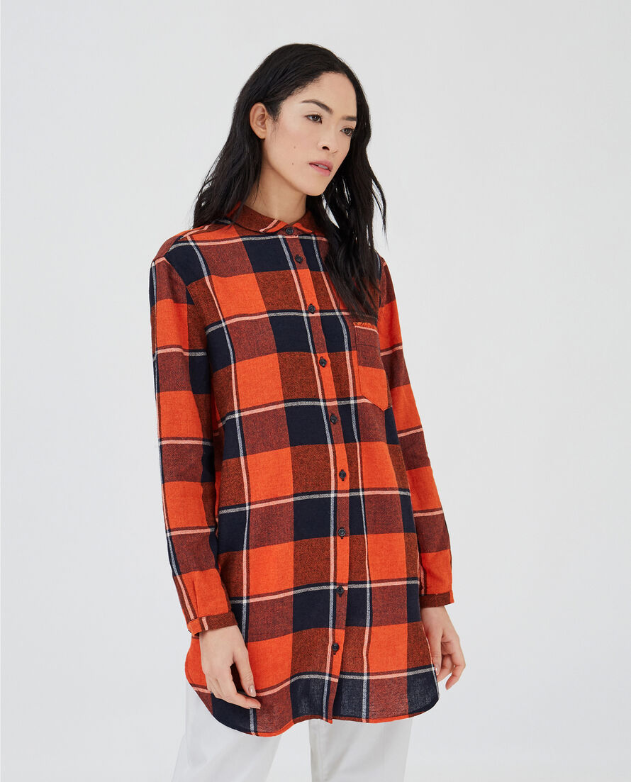 W'S Wool Gauze Long Shirt