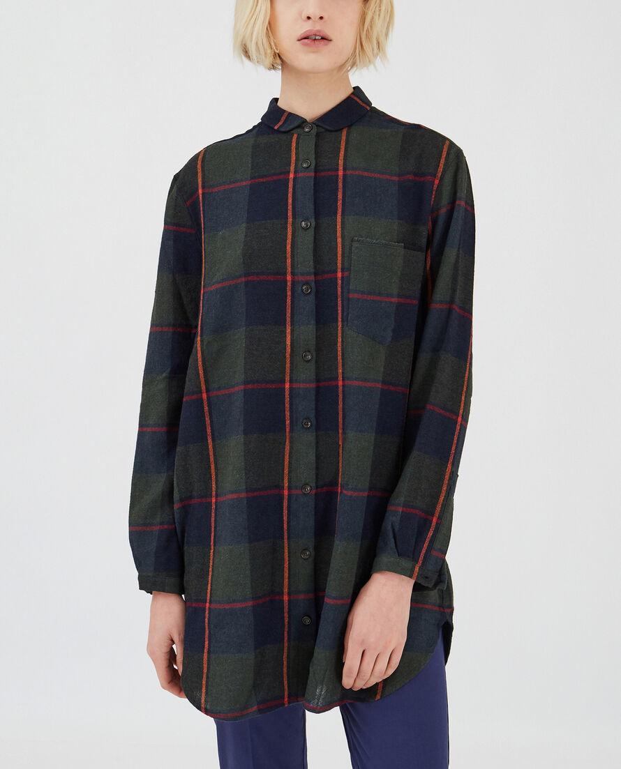 W'S Wool Gauze Long Shirt