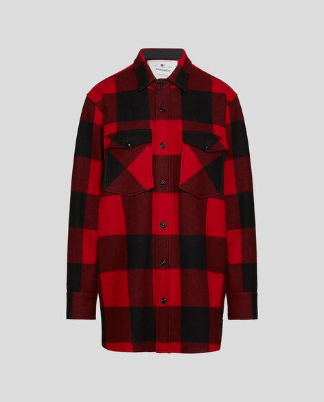 W'S Check Over Shirt