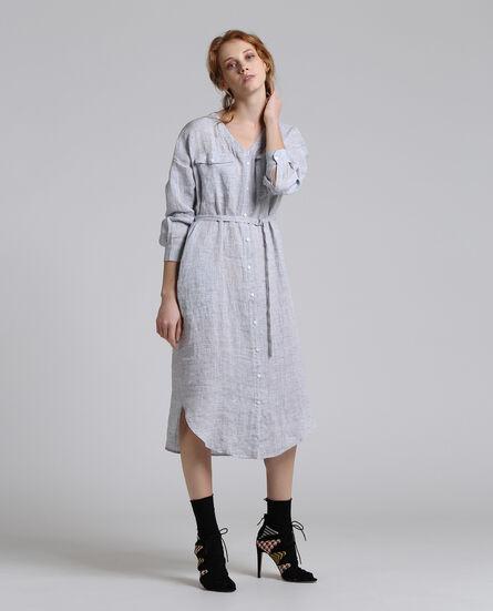 W'S Linen Long Dress