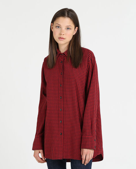 W'S Flannel Check Long Shirt
