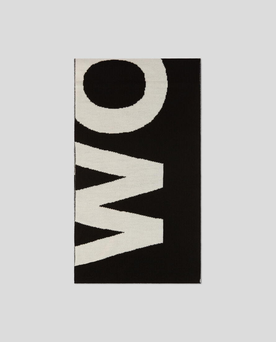 Piquet Wool Logo Scarf