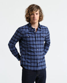 Melange Check Flannel Shirt