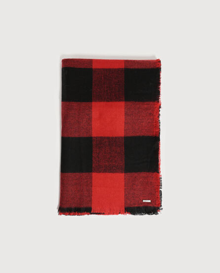 W'S Check Scarf
