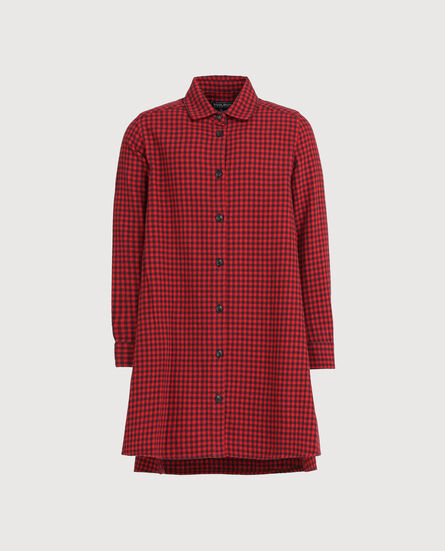 G'S Flannel Maxi Shirt