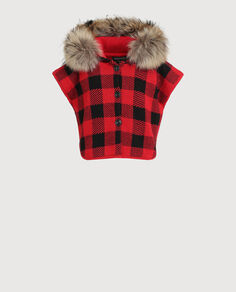 Baby Buffalo Check Cape