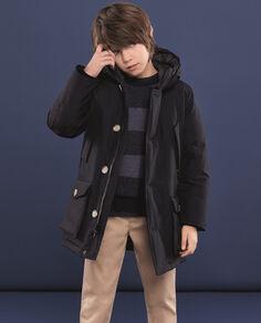 Boy's Arctic Parka no fur Camou Look